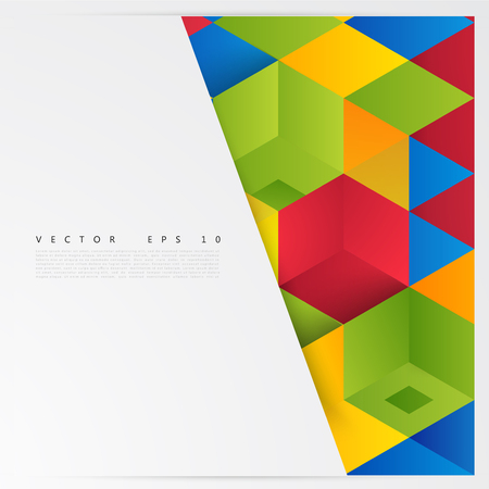 abstract cubes: Vector Abstract geometric shape from cubes. squares