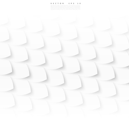 fish with scales: Vector white fish, scales. Abstract background and shadow