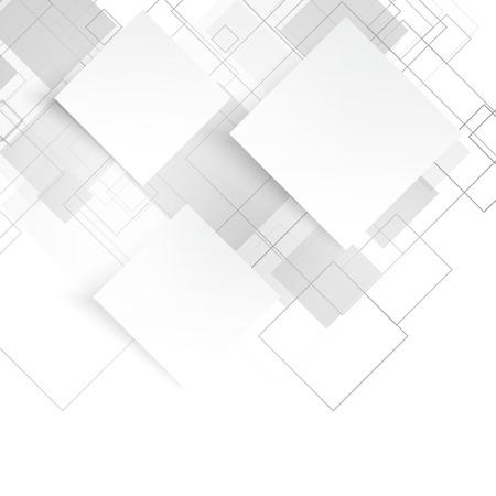 벡터 흰색 사각형입니다. 추상적 인 배경입니다. 빈 회색 일러스트
