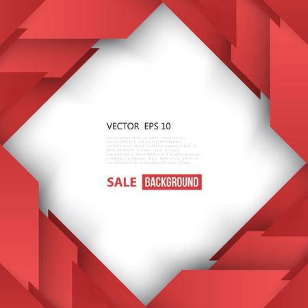 Vectorielle Abstract forme géométrique de diagonale rouge