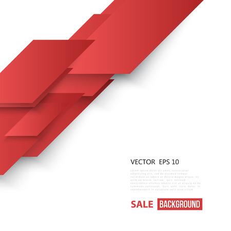 forme geometrique: Vectorielle Abstract forme géométrique de diagonale rouge