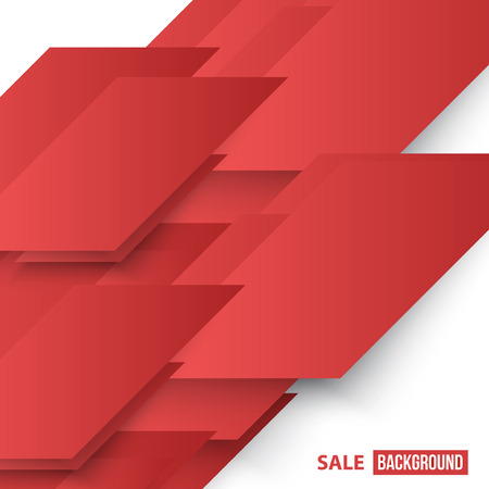 red abstract backgrounds: Vector Abstract geometric shape from red diagonal