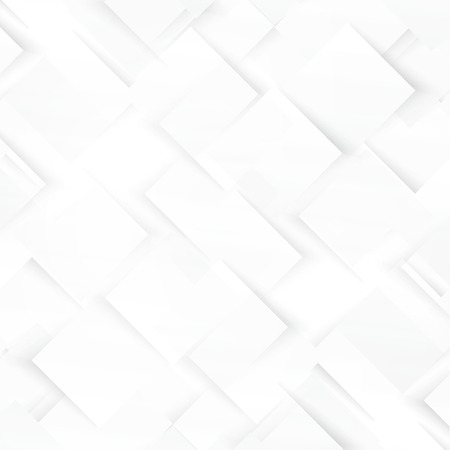 gray background: Vector white squares. Abstract background. Gray blank
