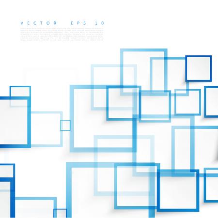Vector blauen Quadraten. Zusammenfassung Hintergrund. Sky blank Vektorgrafik