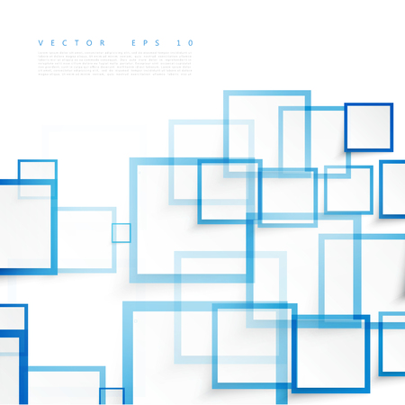 Vector blue squares. Abstract background. Sky blank Imagens - 45242067