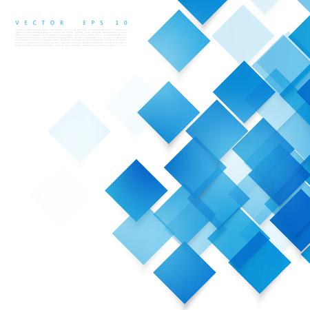 Vector cuadrados azules. Resumen de antecedentes. Cielo blanco