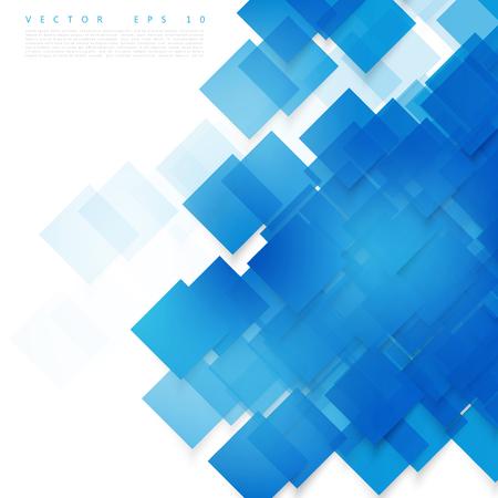 Vector carrés bleus. Abstrait arrière-plan. Sky vierge Banque d'images - 45242282