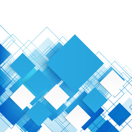 blue white: Vector blue squares. Abstract background. Sky blank