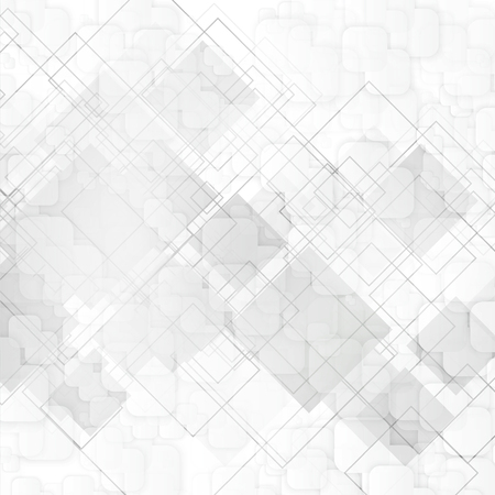 squares background: Vector white squares. Abstract background. Gray blank