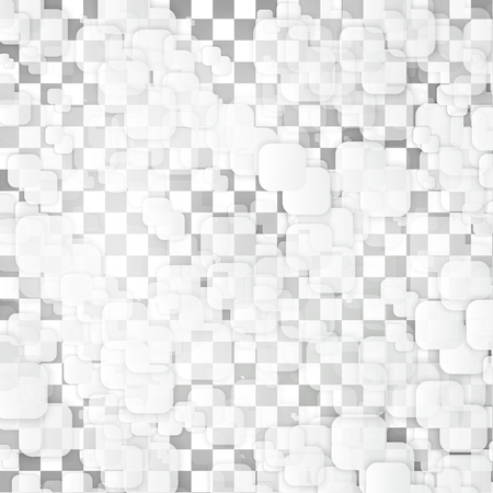 white abstract: Vector white squares. Abstract background. Gray blank