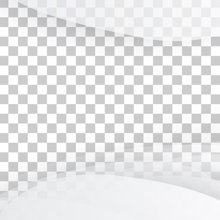 brochure cover: Vector white of wavy banner. Gray background