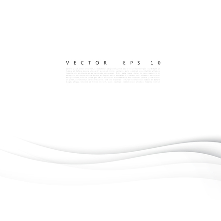 modernistic: Vector white of wavy banner. Gray background