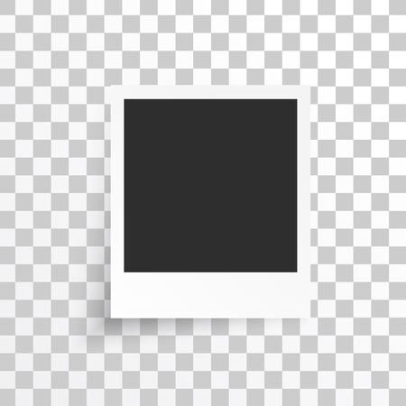 ベクトル白いフレーム。画像フォト フレームと影