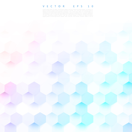 reticle: Vector abstract color 3d hexagonal. Background with hexagon element