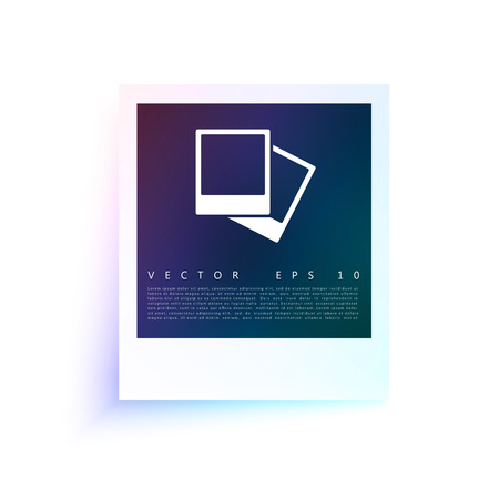 image size: Vector white frames. Picture photo frame and shadow