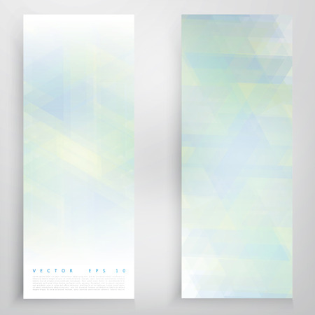 flyer background: Vector banners and triangles. Color flyer background Illustration