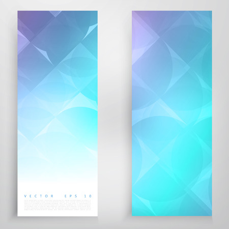 circulos azules: Set of circles banners. Vector modern geometrical abstract background. Blue circles