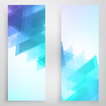 futuristic wallpaper: Vector banners and triangles. Color flyer background Illustration