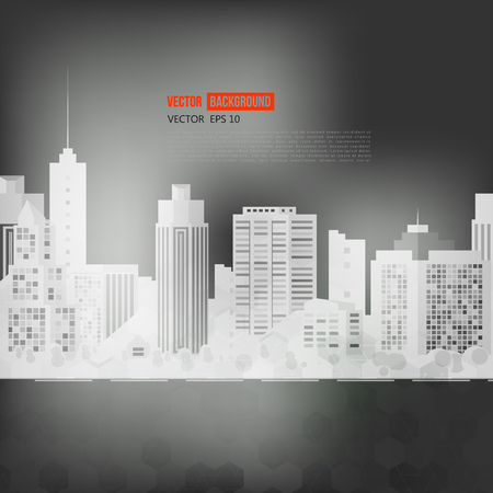 city street: Vector modern city. Cityscape background for your design, urban art. Buildings