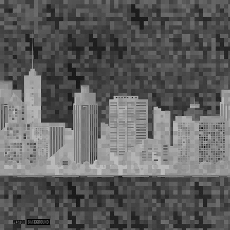urban art: Vector modern city. Cityscape background for your design, urban art. Buildings