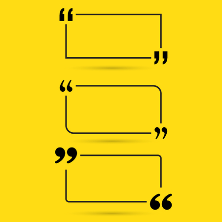 dialogo: Cita de la motivación. Vector conjunto Cita burbujas de texto.