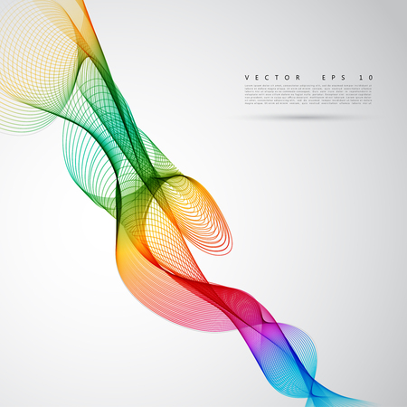 white abstract: Abstract colorful background. Vector color smoke line. Illustration