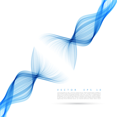 blue smoke: Abstract wave background. Vector blue smoke line.