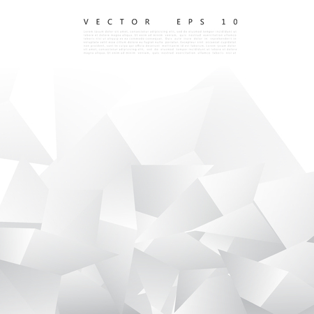 abstrakcja: Vector Abstract geometric shape from gray triangle. White triangles