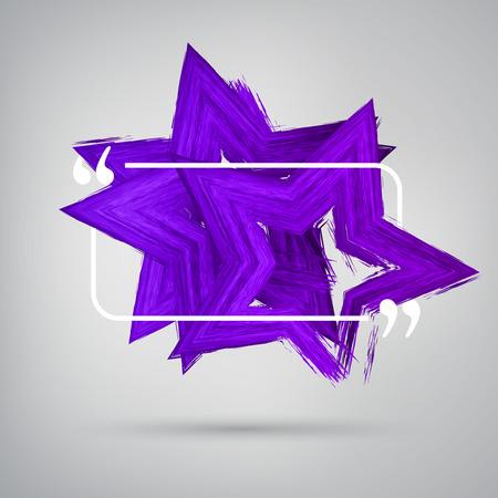 purple stars: Vector 3d colorful star design element. Purple stars