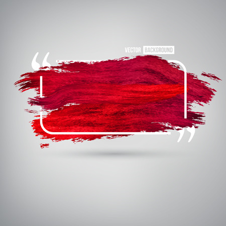 blood smear: Vector Bright splashes. Quote text bubbles. Red