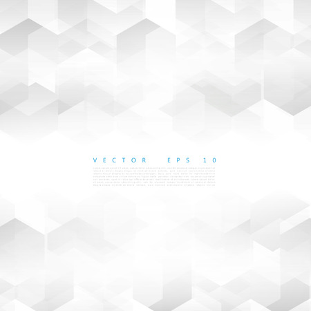 abstract white: Vector Abstract geometric shape from gray cubes. White squares Illustration