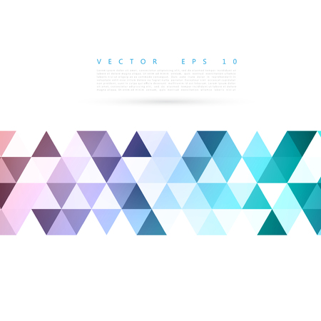 Vector Abstract background blue triangular shapes.