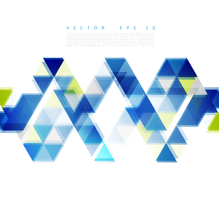Abstract background. blue triangular shapes. Triangles Illustration