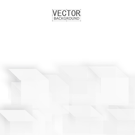 abstract shape: Vector Abstract geometric shape from gray cubes. White squares Illustration