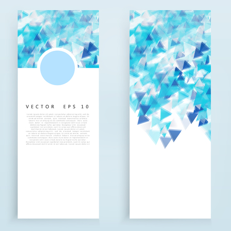 overlapping: Vector banners and triangles. Color flyer background Illustration