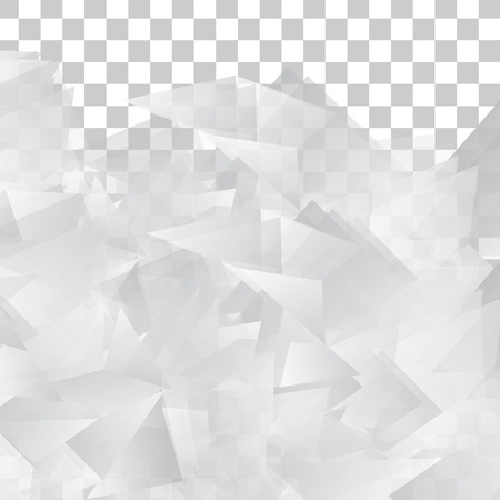 transparent background: Vector Abstract geometric shape from gray triangle. White triangles