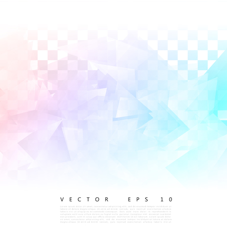 editable: Vector Abstract geometric shape from gray triangle. White triangles