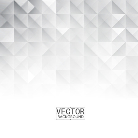 Vector Abstract geometric shape from gray. White squares and triangles