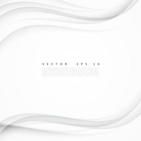 White background curve. Vector abstract White background design wavy. Brochure design templates collection and waving Illustration