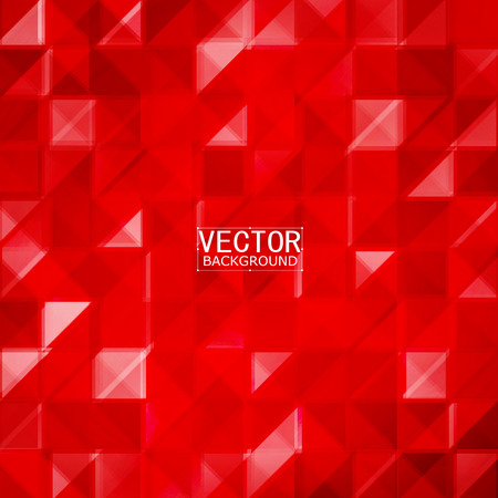 red shape: Vector Abstract geometric shape from gray. Red squares and triangles Illustration
