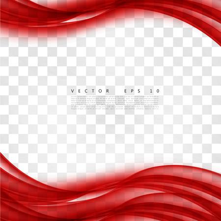 赤い背景の曲線。抽象的な背景が赤ベクター波状。パンフレットのデザイン テンプレート コレクションと手を振って  イラスト・ベクター素材