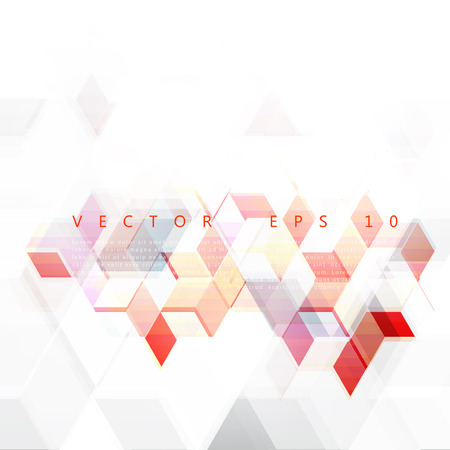 Vector Abstract Design Hexagonal Background. Red and blue