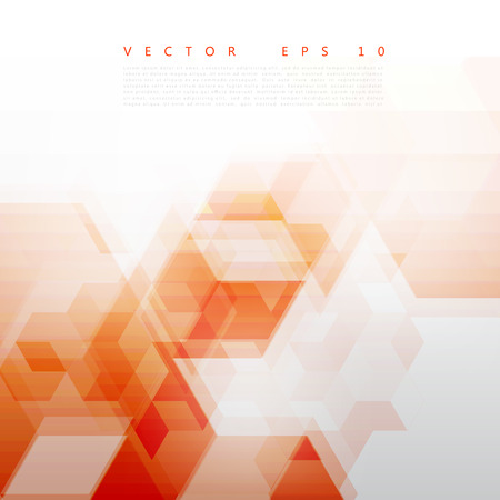 orange background abstract: Vector Abstract Design Hexagonal Background. Red and blue Illustration