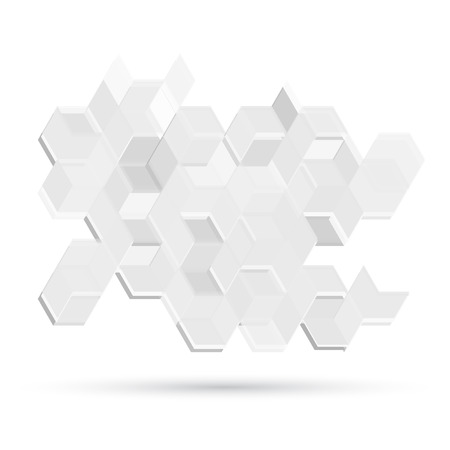 abstract white: Vector Abstract Design Hexagonal Background. Grey and white