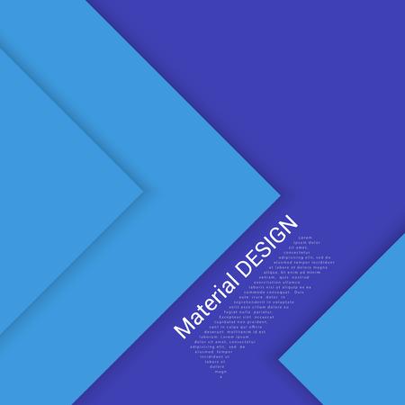 modern material: Vector Blue  Illustration. Modern material design background. Illustration