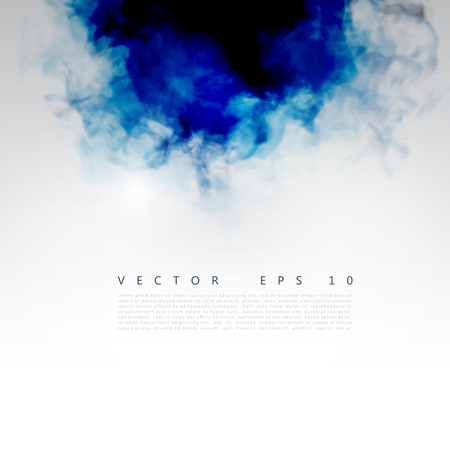 worshiping: Vector blue cloud. Floral Background with Smoke, Watercolor Texture.