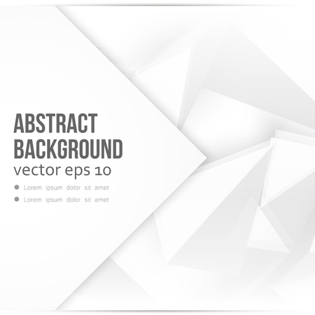 Vector background abstract polygon triangle. polygonal design geometrical. Gray triangles Ilustração