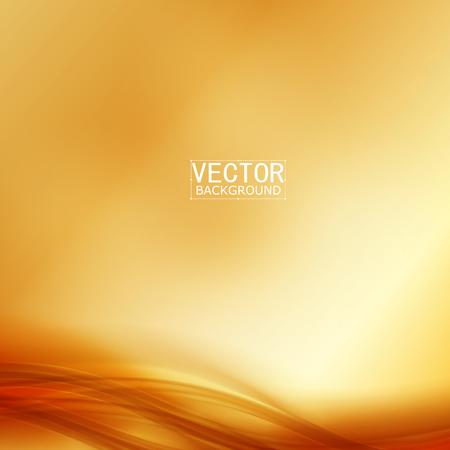Vector Hermoso de raso de oro. Plantilla de diseño de folletos Ilustración de vector