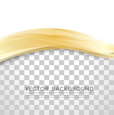 Vector Hermoso de raso de oro. Plantilla de diseño de folletos