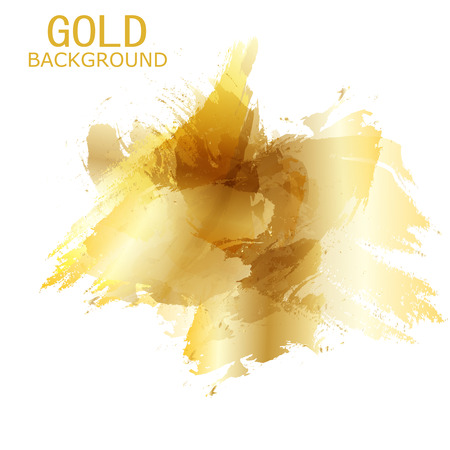 splash paint: Vector Beautiful Gold Satin. Template brochure design